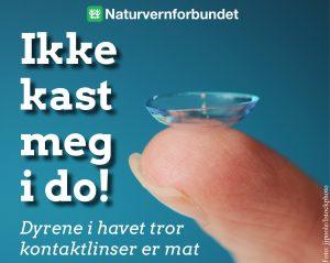 Naturvernforbundet: Ikke kast kontaktlinser i do